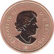 1 cent Elizabeth II (4e effigie, ensemble spécimen) – avers