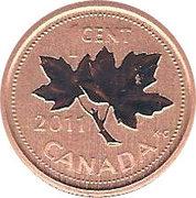 1 cent Elizabeth II (4e effigie, ensemble spécimen) – revers