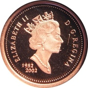 1 cent Jubilé d'or de la reine Elizabeth II (fini spécimen) – avers
