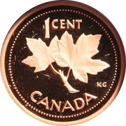 1 cent Jubilé d'or de la reine Elizabeth II (fini spécimen) – revers