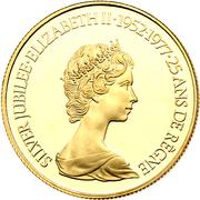 100 dollars Jubilé d'argent de Elizabeth II – avers