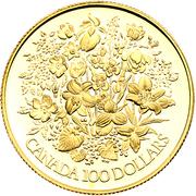 100 dollars Jubilé d'argent de Elizabeth II – revers