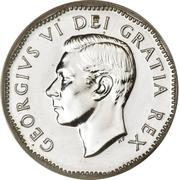 5 cents Georges VI -  avers