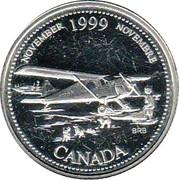 25 cents Novembre 1999 (argent) -  revers