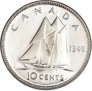 10 cents Georges VI (légende sans IND:IMP:) -  revers