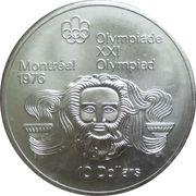 10 dollars Olympiades de Montréal (Zeus) -  revers