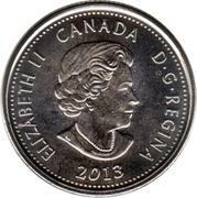 25 cents Laura Secord (colorée) -  avers