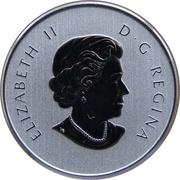 10 dollars Elizabeth II (Feuilles d'érable canadiennes) -  avers