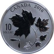 10 dollars Elizabeth II (Feuilles d'érable canadiennes) -  revers