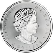 2 dollars Elizabeth II (l'appel du loup, ¾ oz investissement) -  avers