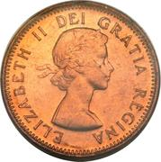 1 cent Elizabeth II (1ère effigie) – avers