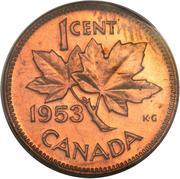 1 cent Elizabeth II (1ère effigie) -  revers