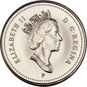 10 cents Elizabeth II (3e effigie, acier plaqué nickel) -  avers