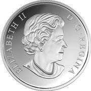 20 dollars Elizabeth II Fleurs nacrées – avers