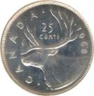 25 cents Elizabeth II (2e effigie, argent 500‰) -  revers