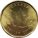 1 dollar Ô Canada 150 ans – revers