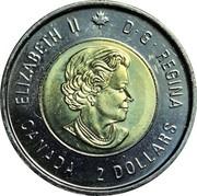 2 dollars La bataille de la crête de Vimy -  avers