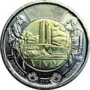 2 dollars La bataille de la crête de Vimy -  revers
