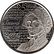25 cents Laura Secord -  revers