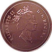 1 cent Elizabeth II (3e effigie, bronze) – avers