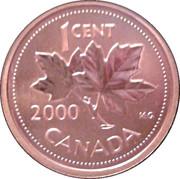 1 cent Elizabeth II (3e effigie, bronze) – revers