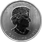 5 dollars Elizabeth II (Grizzli, 1 oz investissement) – avers