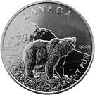 5 dollars Elizabeth II (Grizzli, 1 oz investissement) – revers