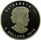 5 dollars Elizabeth II (Ours polaire et ourson, 1 oz investissement) – avers