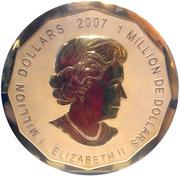 1 million de dollars Elizabeth II (Feuille d'érable) -  avers