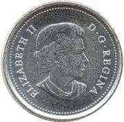 25 cents Bison des bois -  avers