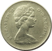 10 cents Elizabeth II (nickel, Philadelphie) -  avers