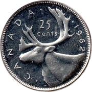 25 cents Elizabeth II (1ère effigie) -  revers