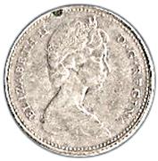 10 cents Elizabeth II (2e effigie, argent, Ottawa) -  avers