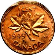 """1 cent Georges VI (sans """"ET IND: IMP:"""") – revers"""