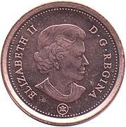 1 cent Elizabeth II (4e effigie, non magnétique) – avers