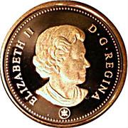 1 cent Elizabeth II (4e effigie, épreuve numismatique) – avers