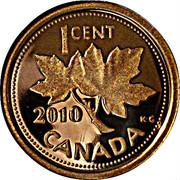 1 cent Elizabeth II (4e effigie, épreuve numismatique) -  revers