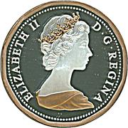 1 cent Elizabeth II (Type ramille de feuilles d'érable) – avers