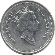 5 cents Elizabeth II (3e effigie) -  avers