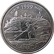 25 cents Mars 1999 -  revers