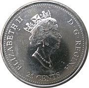 25 cents Millénaire Réalisation -  avers
