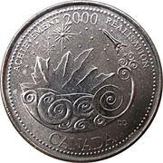 25 cents Millénaire Réalisation -  revers