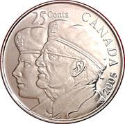 25 cents Année de l'ancien combattant -  revers
