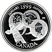 25 cents Janvier 1999 (argent) -  revers
