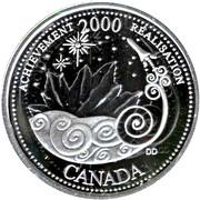 25 cents Millénaire Réalisation (argent) -  revers