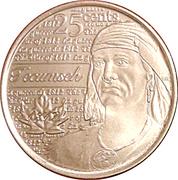 25 cents Tecumseh -  revers