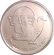 25 cents Faucon pèlerin -  revers