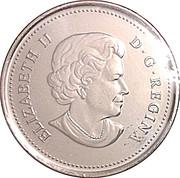 25 cents Faucon pèlerin (colorée) -  avers