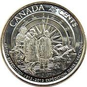 25 cents Expédition arctique canadienne -  revers