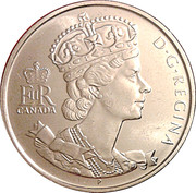 50 cents Jubilé d'or de Elizabeth II (effigie spéciale) -  avers